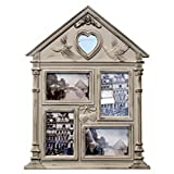 Best Mother Day DIY Personalized Victorian Vintage House Classic Photo Collage Picture Frame with Mirror Set Unique Creative Cool for Women Teen Girl New Born Baby Grandparent Parent Family
