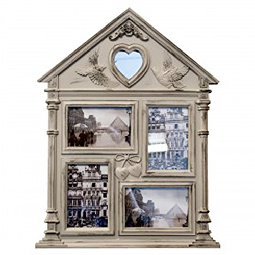 Best DIY Personalized Victorian Vintage House Classic Photo Collage Picture Frame with Mirror Set Unique Creative Cool Christmas Clearance for Women Teen Girl New Born Baby Grandparent Parent Family