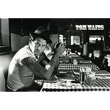Tom Waits - Black & White Poster - 60x90cm