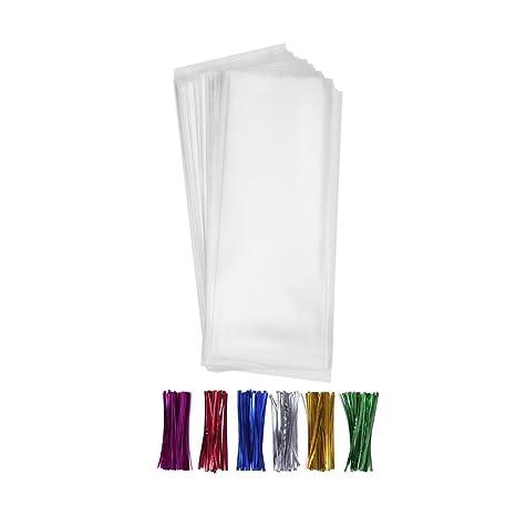 Amazon.com: 200 bolsas de regalo con lazos giratorios, 6 ...