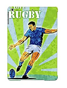 Ellent Ipad Air Case Tpu Cover Back Skin Protector Rugby Player Kicking The Ball For Lovers