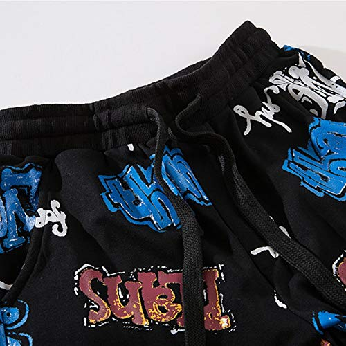 Street Sci Larghi Dance Go Hop Pantaloni Easy Da Shopping Hip Black Uomo Trend Stripes Reflective q0BwxIgC