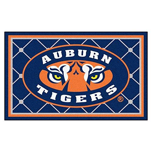 Fanmats NCAA Auburn University Tigers Nylon Face 4X6 Plush (Fanmats Auburn Rug)