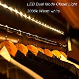 Amagle Flexible 3.28ft 3000K Warm White Dual Mode LED Strip Light, Motion Sensor Activated, Lighting for Kitchen, Drawer, Sta