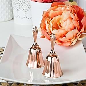Rose Gold Metal Kissing Bell or Wedding Bell - Wedding Favor (72)