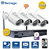 Cheap Techage Wifi Security Camera System/ Wireless CCTV System Outdoor/ Indoor, 4CH 1080P 2.0MP Waterproof IP Camera, 65ft Night Vision, Plug & Play, Home Security Surveillance Kits With 1tb Hard Disk
