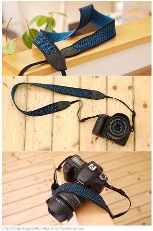 Navy Dot Ciesta CSS-F38-023 Fabric Camera Strap for Toy Camera DSLR Mirrorless Camera