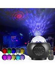 LED Star Projector Lights Ocean Wave Sterlicht Projector Nachtlampje met Ingebouwde Muziek Luidspreker en Afstandsbediening Geschikt Kinderen Volwassenen Kamer Woondecoratie