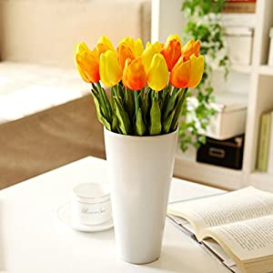 European-Style 20 Branch Tulip Emulation Flower Scented Tea Dining Table Overall Floral Pu Kit 20