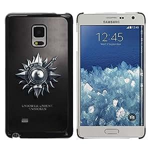 TopCaseStore / la caja del caucho duro de la cubierta de protección de la piel - Unbowed Unbent Unbroken - Samsung Galaxy Mega 5.8 9150 9152