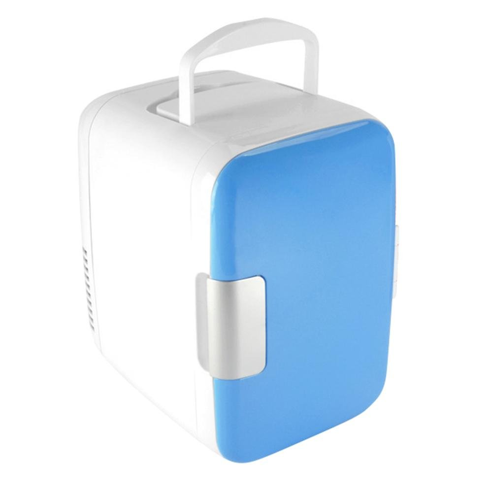 Whitelotous Portable Mini Fridge Electric Cooler and Warmer Car Refrigerator AC & DC, 4 Liter Blue, for Home Office Car
