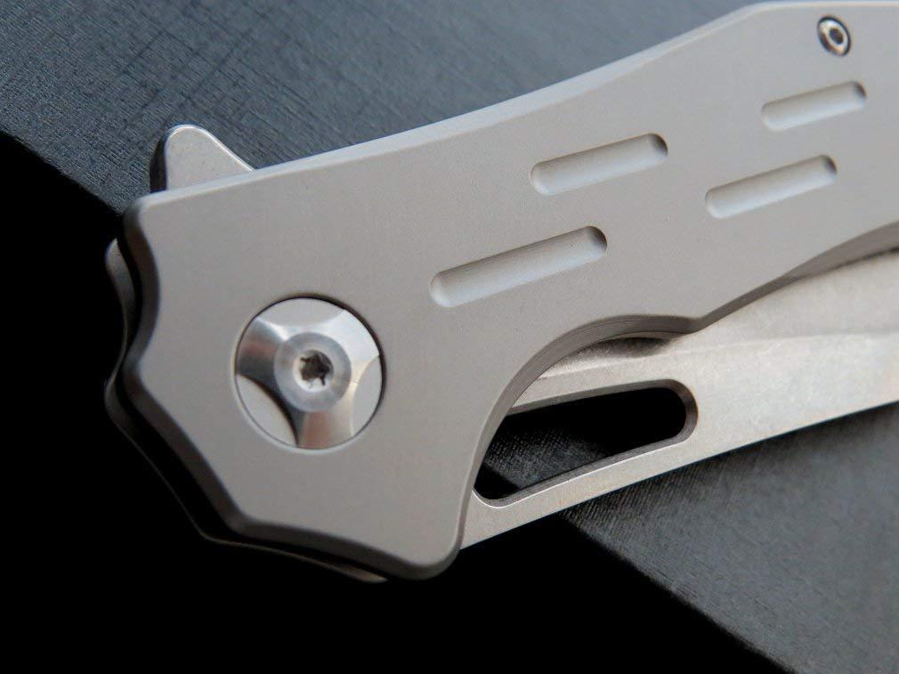 EF334 Folding Knife Titanium Alloy Handle D2 Blade,8.2 Blade,8.2 Blade,8.2 inch Closed Outdoor Tactical Folding Knives Pocket Camping Knives B07NMCFJHG Messer Kaufen Sie online b49c1e