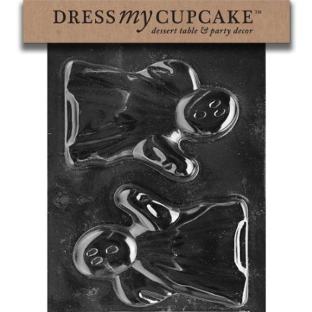 Dress My Cupcake DMCH086 Chocolate Candy Mold, Ghost