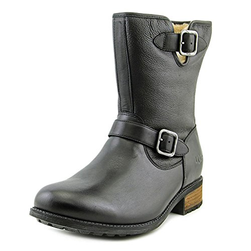 ugg-womens-chaney-black-twinface-leather-boot-10-b-m