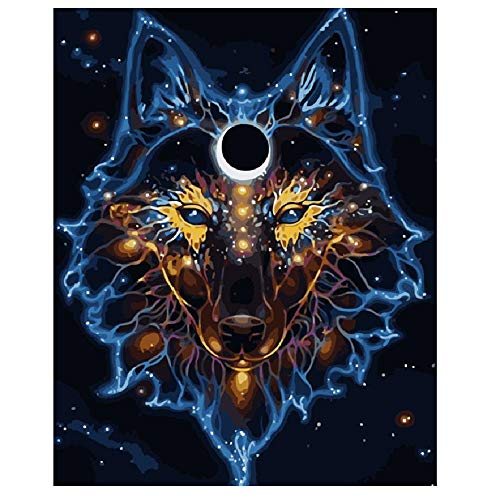 (Classic Jigsaw Puzzle 1000 Pieces Adult Puzzles Wooden Puzzles DIY Mask Behind The Wolf Animal Living Room Decoration Art Picture Gift)