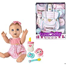 Luvabella Doll Bundle ----- BLONDE Hair Doll + 10pc Diaper Bag Nursery Set