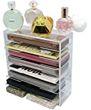 NEW! Large Acrylic Palette Organizer By Skin Radiance - Superiror Quality Makeup Organizer For Easy Storage . Lifetime Guarantee! Get Yours Now