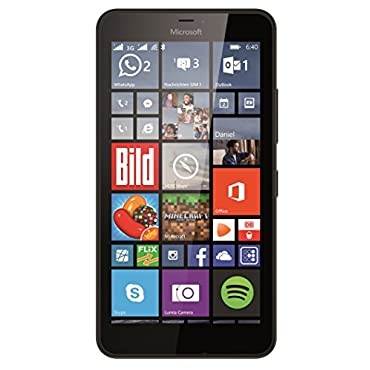 Microsoft Lumia 640 XL 8GB Unlocked GSM Quad-Core WIndows Smartphone w/ 13MP Camera Black