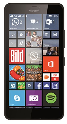 Microsoft Lumia 640 XL 8GB Unlocked GSM Quad-Core WIndows Smartphone w/ 13MP Camera - Black