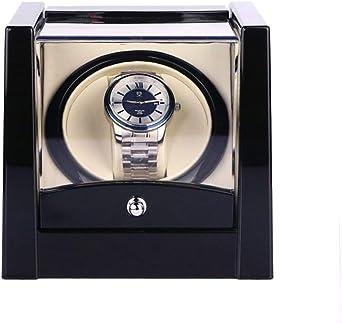 Caja giratoria para Relojes Pantalla Negro Individual Mira Enrollador For Relojes Caja De Reloj Automática del Almacenamiento Automático De Caja De Caja De Devanadera CG624 (Color : US): Amazon.es: Relojes