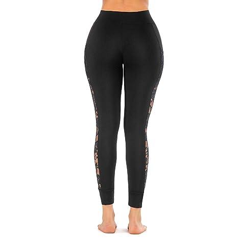 Goddessvan 2019 Women Lace Skinny Yoga Sport Pants Leggings Cell Phone Pockets Trousers Yoga Leggings