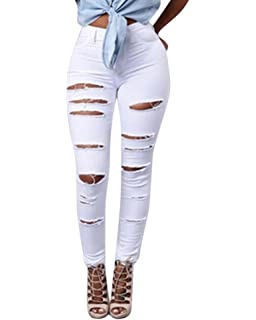 ZKOO Rotos Agujero Vaqueros Mujer Elásticos Skinny Jeans ...