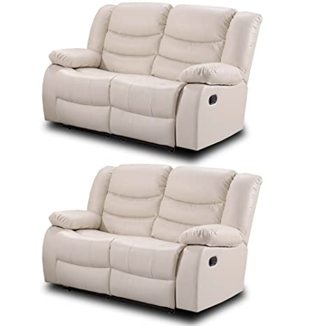 Outstanding Simply Stylish Sofas Belfast Ivory Cream Leather Reclining Sofa Range All Combinations Available 2 2 Seater Sofa Set Uwap Interior Chair Design Uwaporg