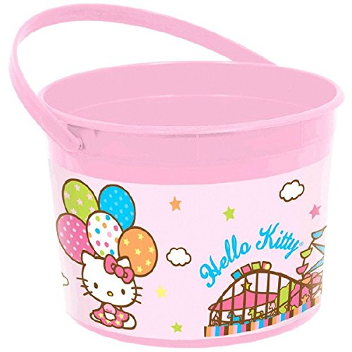 Hello Kitty Pail (Pink Plastic Bucket | Hello Kitty Collection | Party)