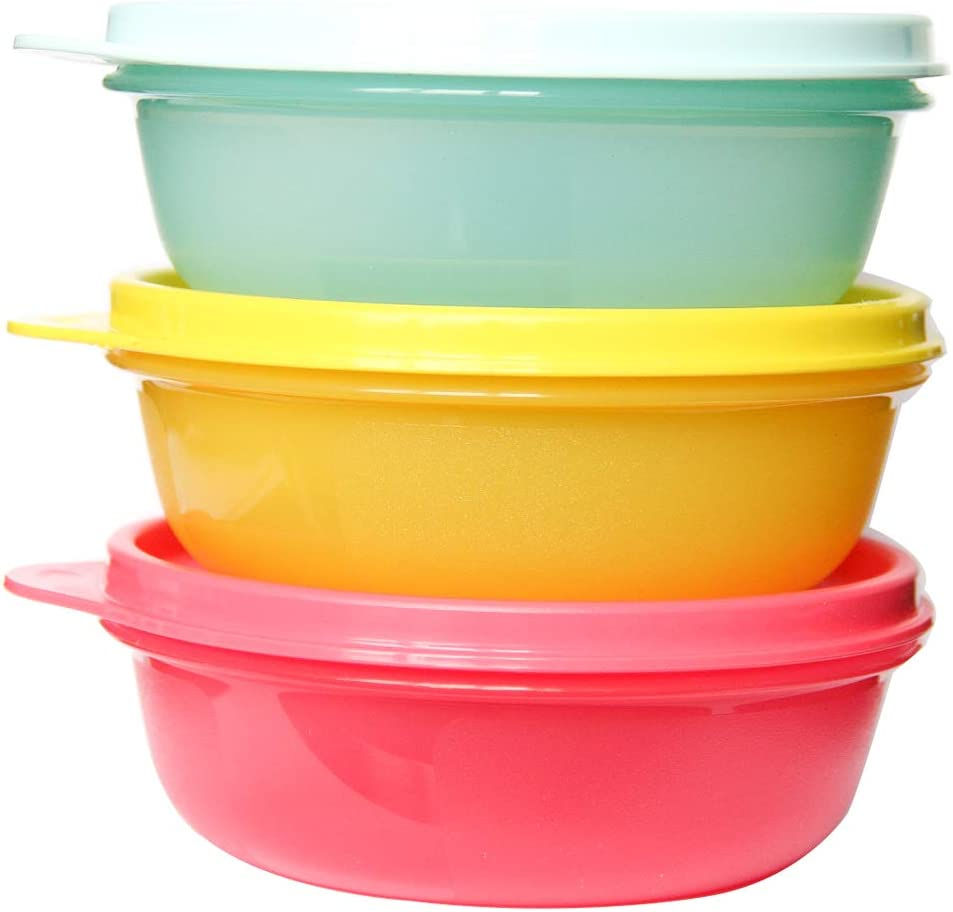 Tupperware S.S. Bowl Airtight Storage Container Set of (3 x 1,27 Cups)