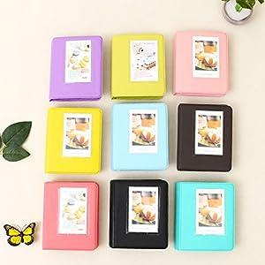 SAIKA Photo Album and Film Sticker for Fujifilm Instax Mini 9 8 8+ 70 7s 90 25 26 50s/Polaroid ZIP Mobile Printer/HP Printer