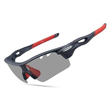 topsports 3 lente deporte gafas de sol Ciclismo Pesca Gafas de sol polarizadas y fotocromáticas TR90