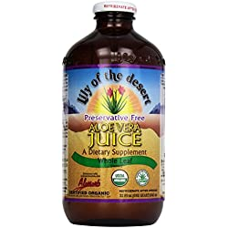 Lily of the Desert Aloe Juice, Preservative Free, Whole Leaf, 1 quart