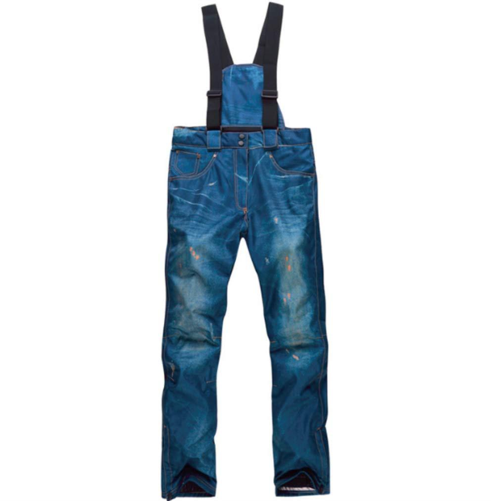 Mitef Giacca da Sci Caldi Addensato Denim Pantaloni Pantaloni da Snowboard Antivento, Disponibile in Due Colori e Varie Dimensioni