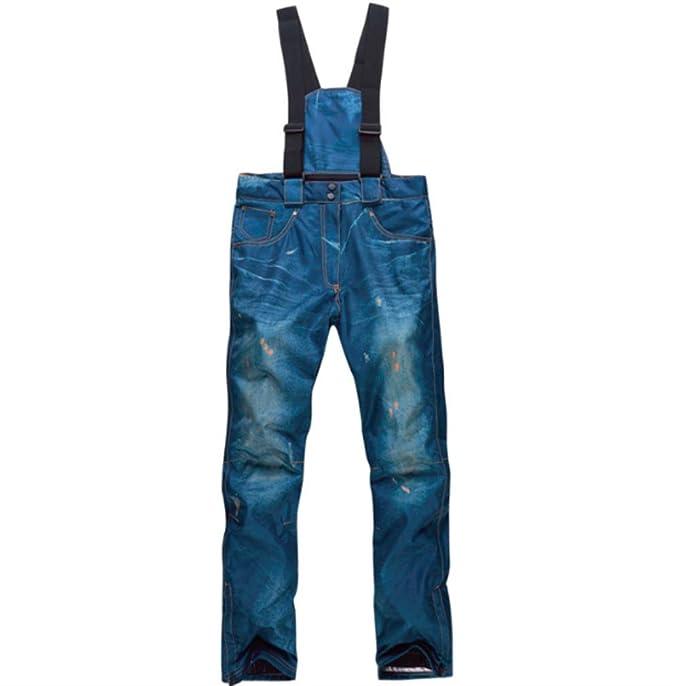 Impermeables Disponibles en Dos Colores y Varios tama/ños Gruesos Resistentes al Viento Mitef Pantalones de esqu/í para Hombre