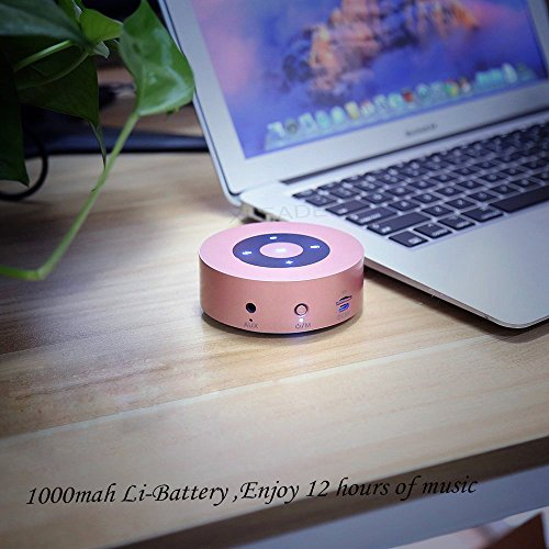 [LED Touch Design] Bluetooth Speaker, XLEADER Portable Wireless Bluetooth Speakers with HD Sound/ 12-Hour Playtime/Bluetooth 4.1 / Micro SD Support, for iPhone/ipad/Tablet/Laptop/Echo dot (Rose Gold)