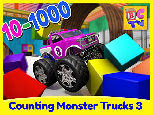 Counting Monster Trucks Part 3 - 1 to 1000 (Free Animation Factory)