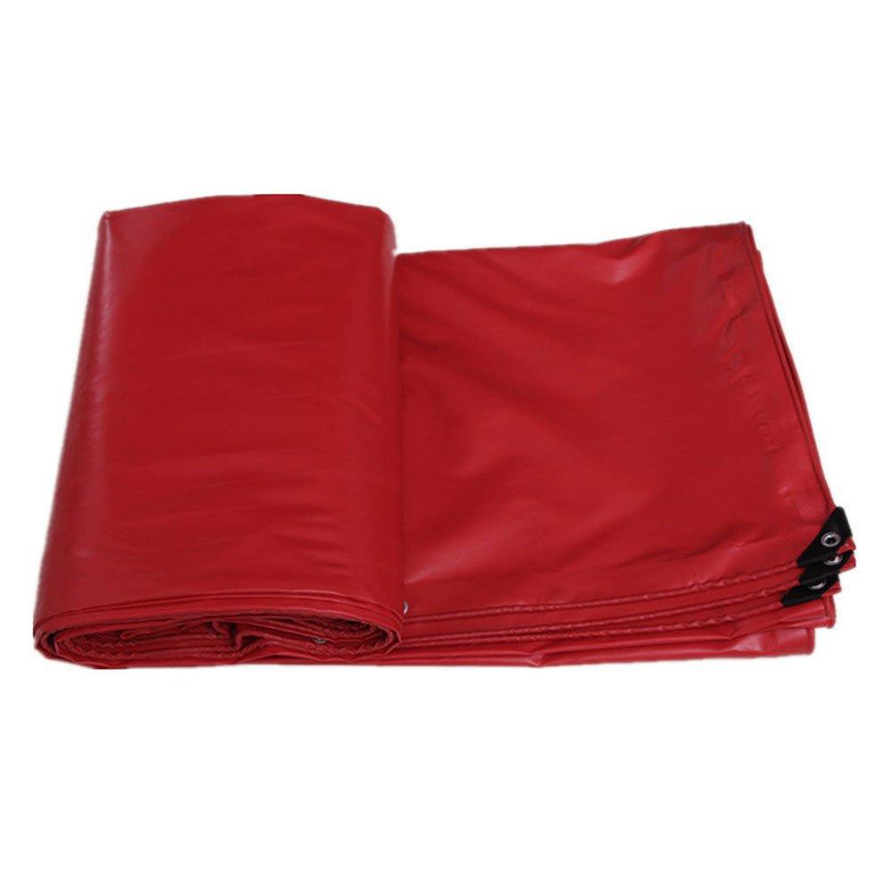LQQGXL Wasserdichtes doppelseitiges imprägnierndes Wasserdichtes Gewebe der Ladung staubdichte Hochtemperaturanti-Altern, rot Wasserdichte Plane
