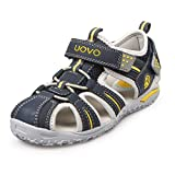 UOVO Boys Sandals Hiking Athletic Closed-Toe Beach Sandals Kids Summer Shoes (3 M US Little Kid, Navy Blue-3)