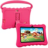 Kids Tablet,Auto Beyond 7 inch Tablet Kids Google Android 6.0 Handle Stand Silicone Case,IPS Display Screen,Playstore,8GB ROM,1GB RAM,Wi-Fi,Bluetooth (Pink)