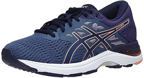ASICS Womens Gel-Flux 5 Running Shoe, Blue/Canteloupe/Peacoat, Size 7