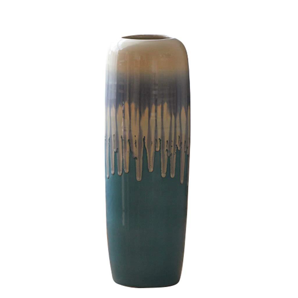 床花瓶現代地中海スタイルセラミックカラー釉薬ホームリビングルームの装飾装飾 HUXIUPING (Size : 60cm) B07T3YSGC6  60cm