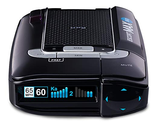 Escort X80 Radar Detector w/ Bluetooth and Escort Live Crowd Sourcing, Extreme Long Range Early Alert Protection, False Alert Filter, Multi-Color OLED Display, Crystal Clear Voice Alerts