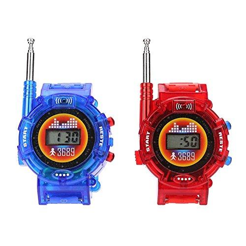 トランシーバー 子供用 ウォッチ型 2台セット無線 腕時計 デザイン ウォーキートーキー おもちゃ アウトドア ワイヤレスウォーキートーキー ペア通信おもちゃ 腕時計子供おもちゃ Walkie Talkies Prosperveil
