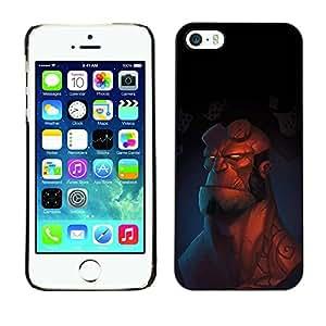 KOKO CASE / Apple Iphone 5 / 5S / hombre superhéroe de dibujos animados dibujo dura fuerte / Delgado Negro Plástico caso cubierta Shell Armor Funda Case Cover