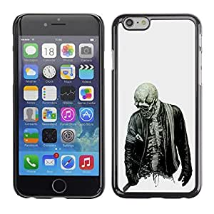 Colorful Printed Hard Protective Back Case Cover Shell Skin for Apple iPhone 6(4.7 inches) ( Biker Cool Skull Skeleton Zombie Rock )