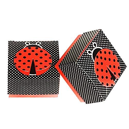 24 Ladybug Favor Boxes