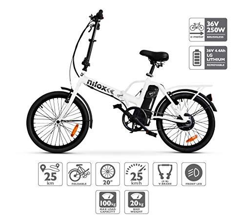 Nilox E Bike X1 New, Electric Bike, White, One Size