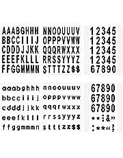 LUTER 210 Stuks 6 Vellen Brievenbus Nummers en Letters Stickers Waterdicht Zelfklevende Stickers voor Brievenbus, Huis, Deur, Adresnummer, Binnen of Buiten (5 cm)