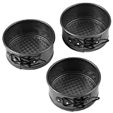 : Wilton 4-Inch Mini Springform Pans Set, 3-Piece for Mini Cheesecakes, Pizzas and Quiches
