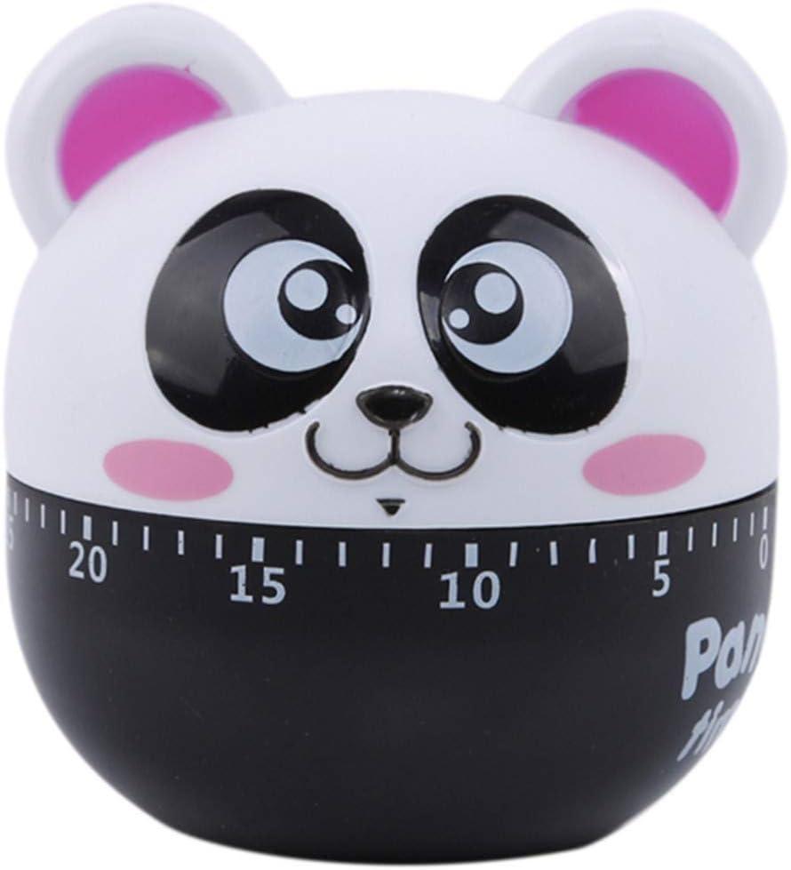 Winwinfly Cute Panda Animal Küchentimer Countdown 60 Minuten Kochen mechanischer Timer für Kithen Kids, Pink Rosa